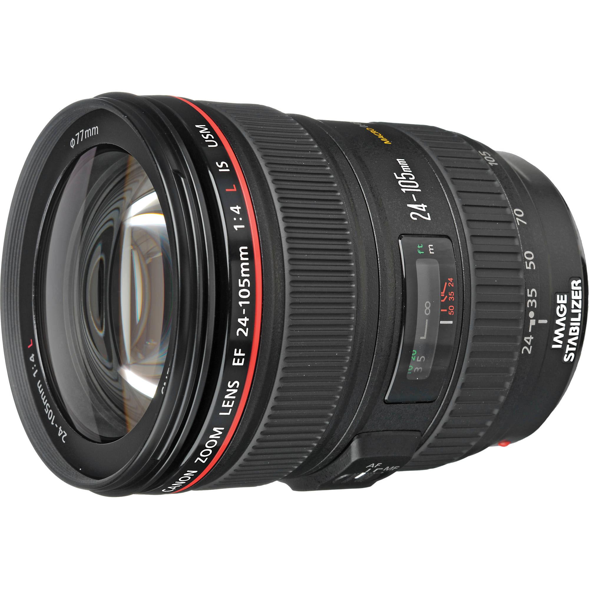 hot deal refurbished ef 24 105mm f 4l is usm lens for 539 full 1 year warranty canon deal. Black Bedroom Furniture Sets. Home Design Ideas
