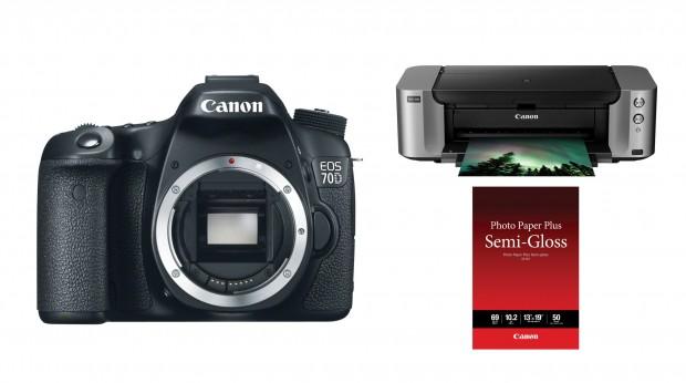 <del>Hot Deal – Canon EOS 70D + Pixma Pro-100 Printer + Photo Paper for $929 !</del>