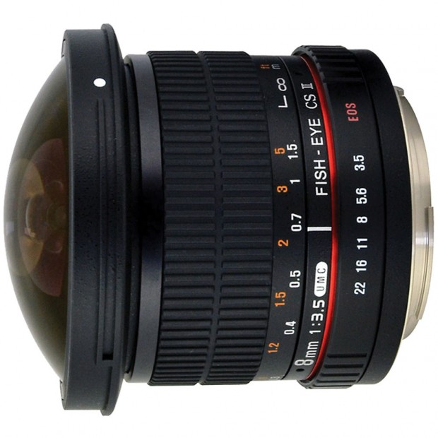 Hot Deal – Rokinon 8mm f/3.5 HD Fisheye Lens w/ Removable Hood for $179 !