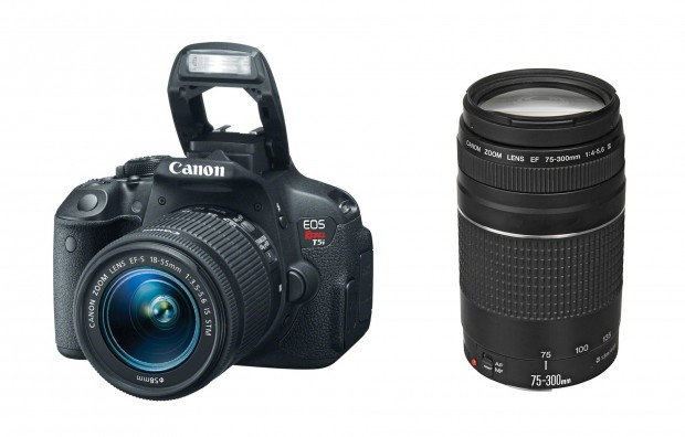 Canon Rebel T5i + 18-55mm + 75-300mm – $657