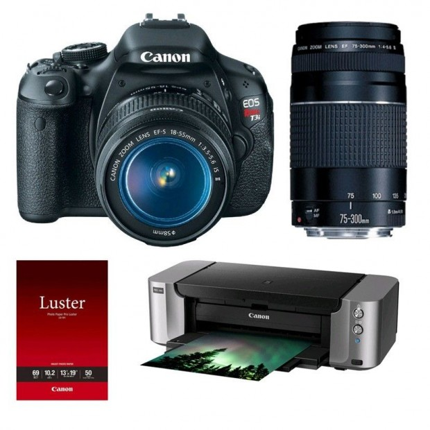 <del>Hot Deal &#8211; Canon T3i w/ 18-55mm &#038; 75-300mm &#038; Pixma Printer &#8211; $499 !</del>