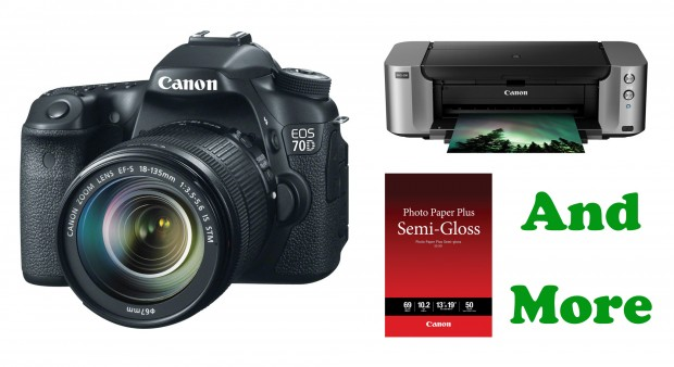 Canon 70D Bundle Deals: w/ 18-135mm + Printer for $1,184, w/ 18-55mm + Printer for $1,017, w/ Printer for $937 !