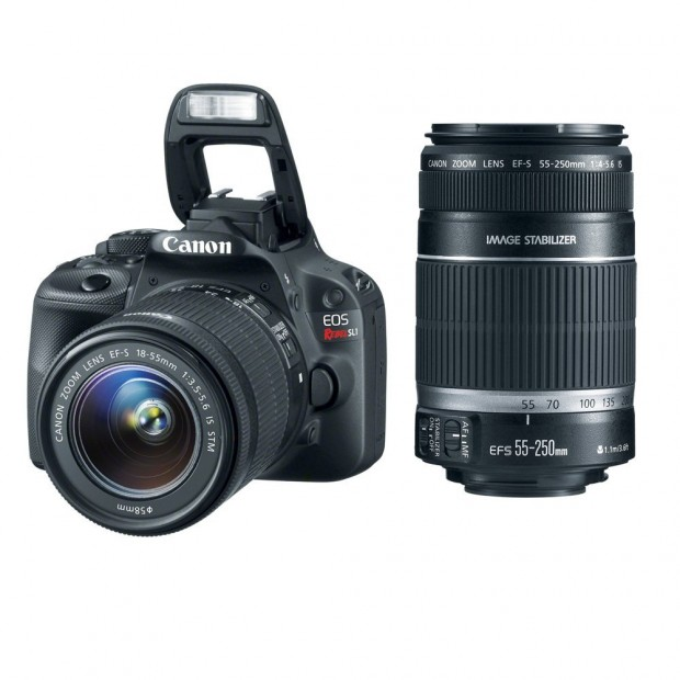 <del>Canon Rebel SL1 w/ 18-55mm & 55-250mm Lenses for $539 !</del>