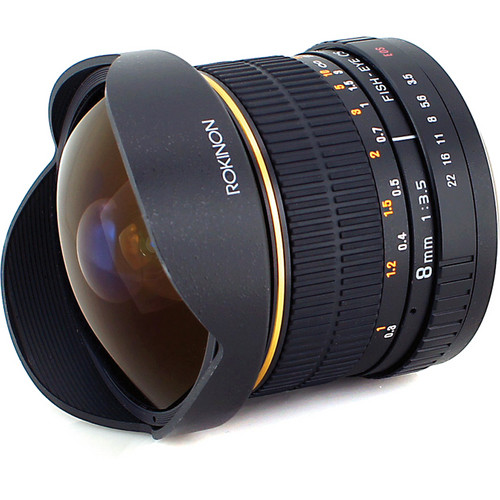 Rokinon 8mm f 3.5 fisheye lens