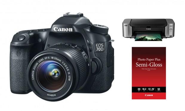 Hot Deal – Canon 70D w/ 18-55mm lens + Pixma Pro-100 Printer for $999 !