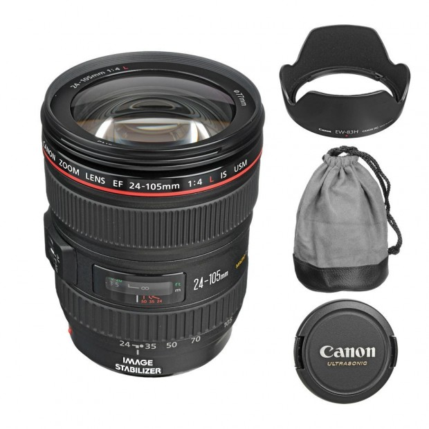 EF 24-105mm f/4L IS USM Lens for $599 w/ Accessories !