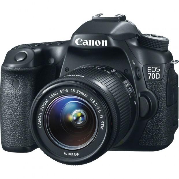 canon eos 70d w 18-55mm lens