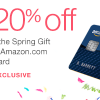 amazon 20 off visa