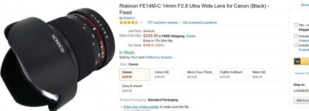 rokinon 14mm f 2.8 lens canon