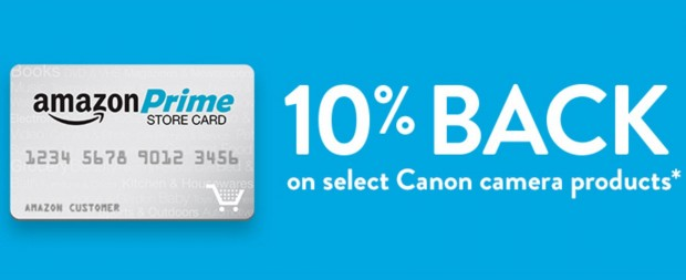 Hot Deal – Get 10% Back on Canon Cameras & Lenses w/ Amazon Prime Store Card !