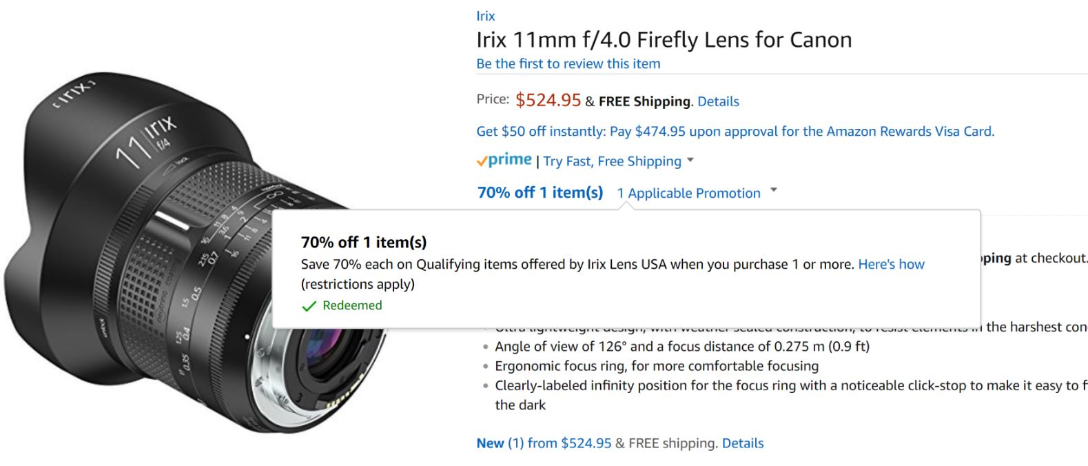 Super Hot – 70% Off on Irix 15mm f/2.4 & 11mm f/4 Lenses at Amazon !